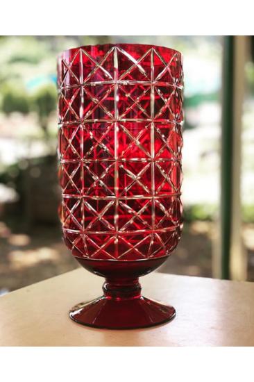 Luxury Nar Kırmızı Kesme Vazo (Hand Made)