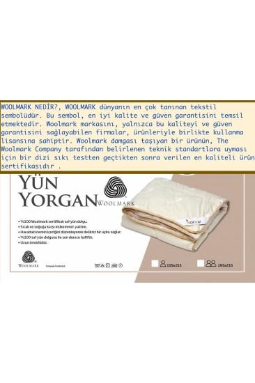 Nofku % 100 Woolmark Çift Kişilik Yün Yorgan 300GSM